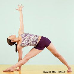 love trikonasana learn how to avoid this common knee