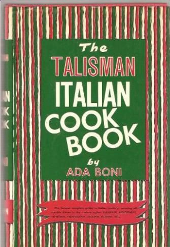 Book Review The Talisman Italian Cook Book Cookery Books New