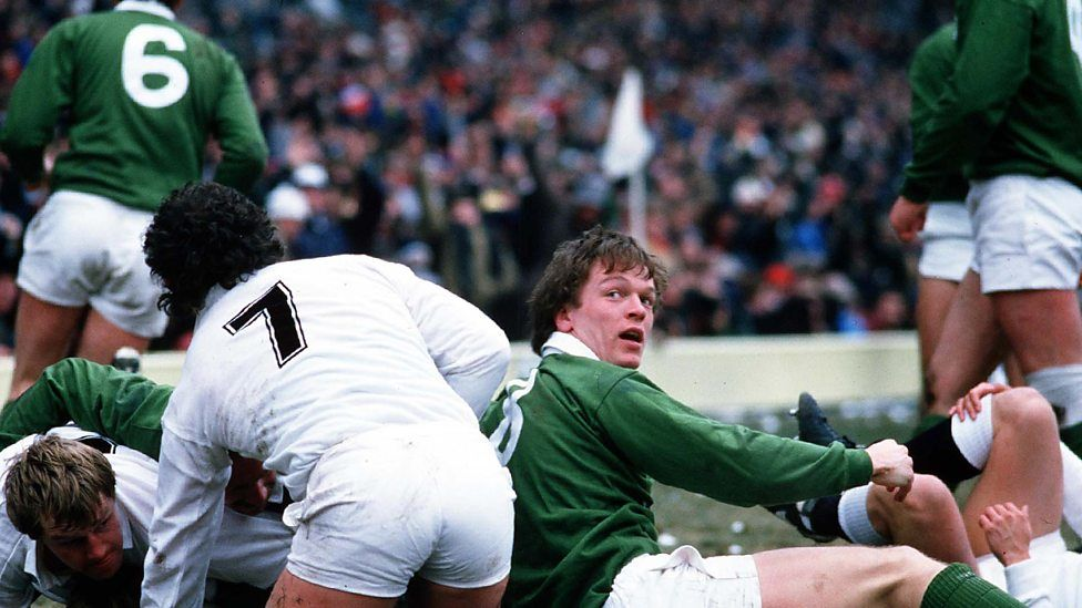 Brian Spillane IrlandeAngleterre 1986 Six nations rugby