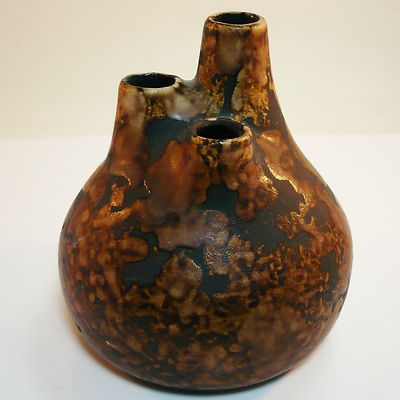Rare West german pottery chimney vase made by P-Keramik in best condition