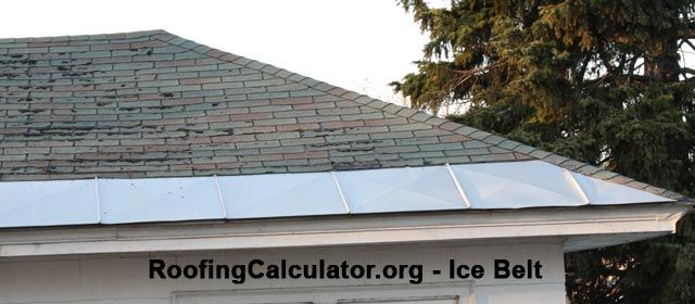 Metal Roofing Ice Belts Prevent Ice Dams Formation On
