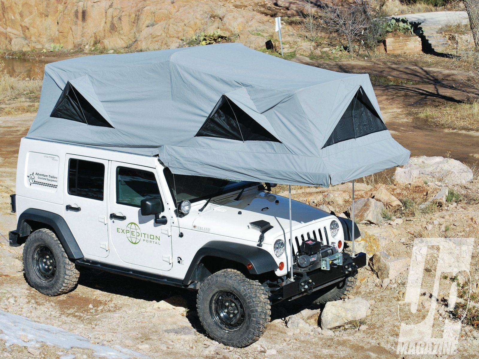 medium resolution of camping in luxury jk with tent out