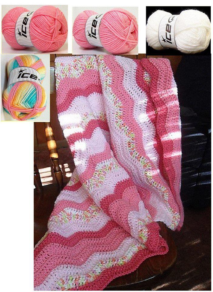 Mary Helen artesanatos croche e trico: Mantas bebe   Crochê ...
