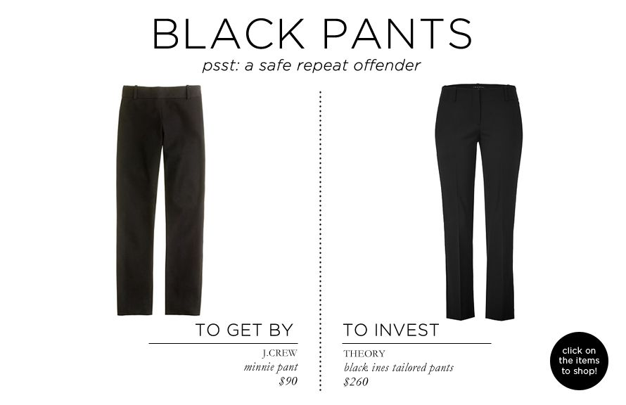 Fashion Essentials Part Two via The Everygirl // BLACK PANTS