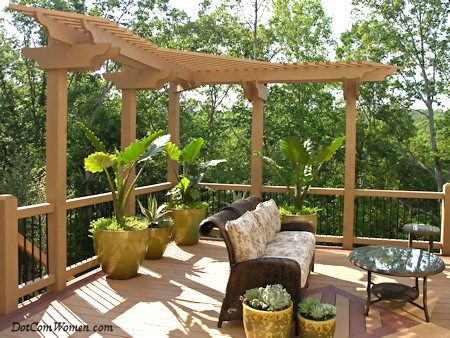 Ideas For Deck Designs outdoor garden enchanting pool deck design ideas with pergola backyard deck design ideas Mini Pergola On Deck 7 Deck Design Ideas For Your New Home