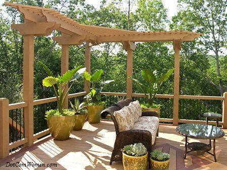 7 Deck Design Ideas For Your New Home Pergola Deck Trellis