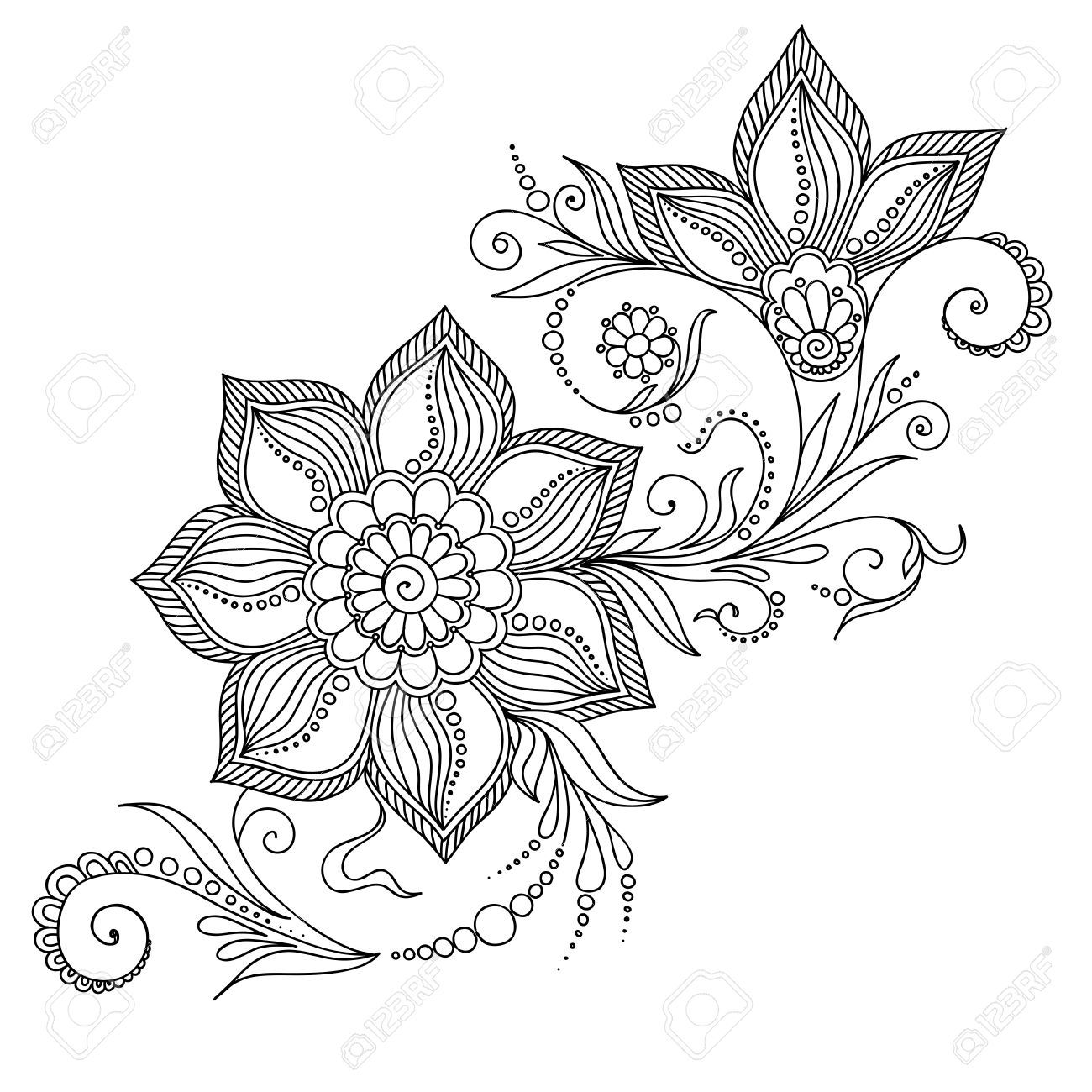 Coloring pages henna - K Ptal Lat A K Vetkez Re Adults Coloring