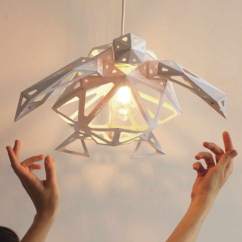 The Glowing Turtle Lampshade Brings Paper To Life Geometric