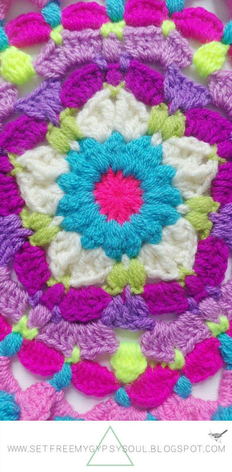 Peggy en rosa Mandala de la flor de Bohemia | Libre del patrón de ...