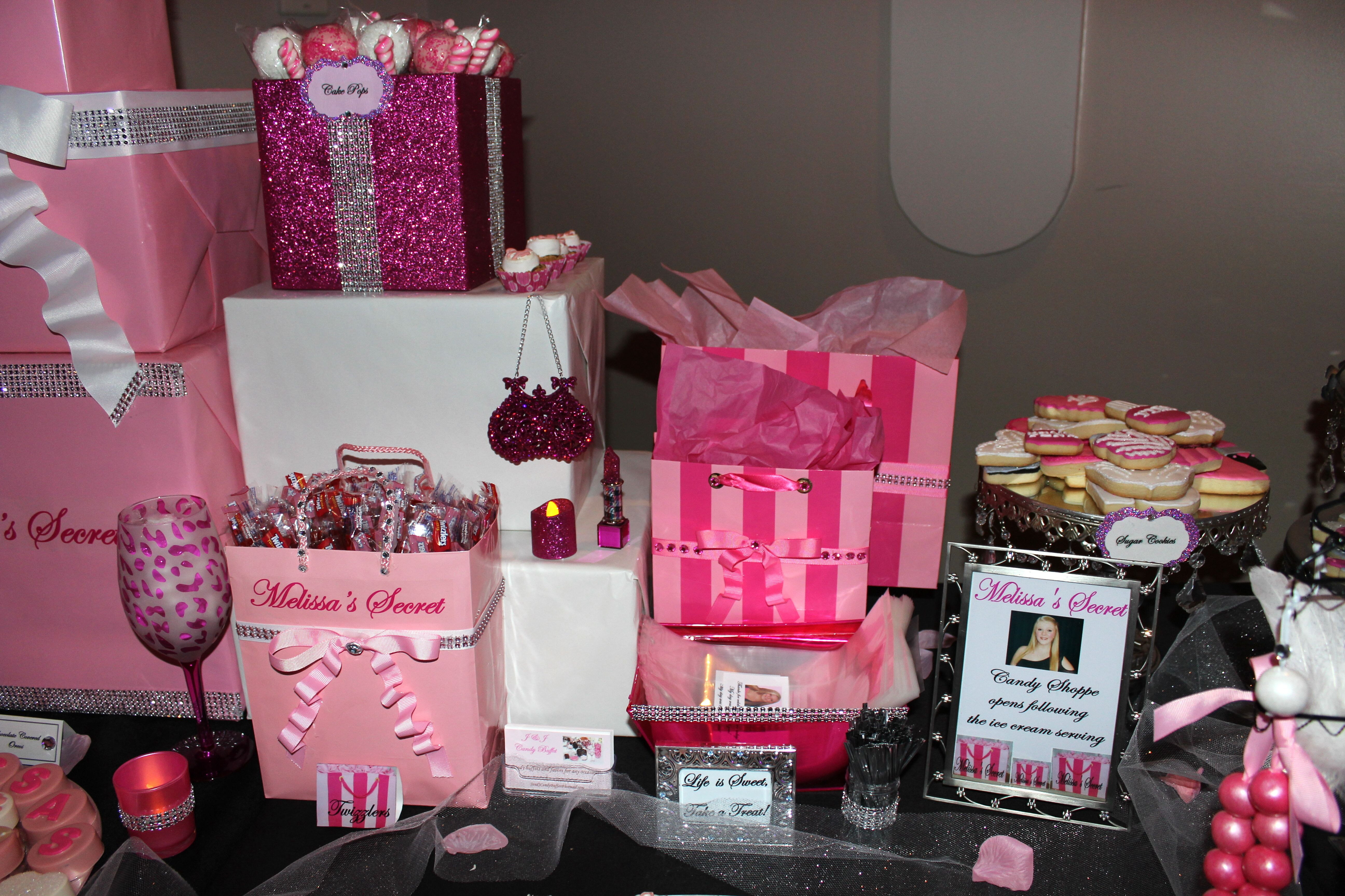 7f879c54bd Victoria s Secret Candy Table Birthday Goals