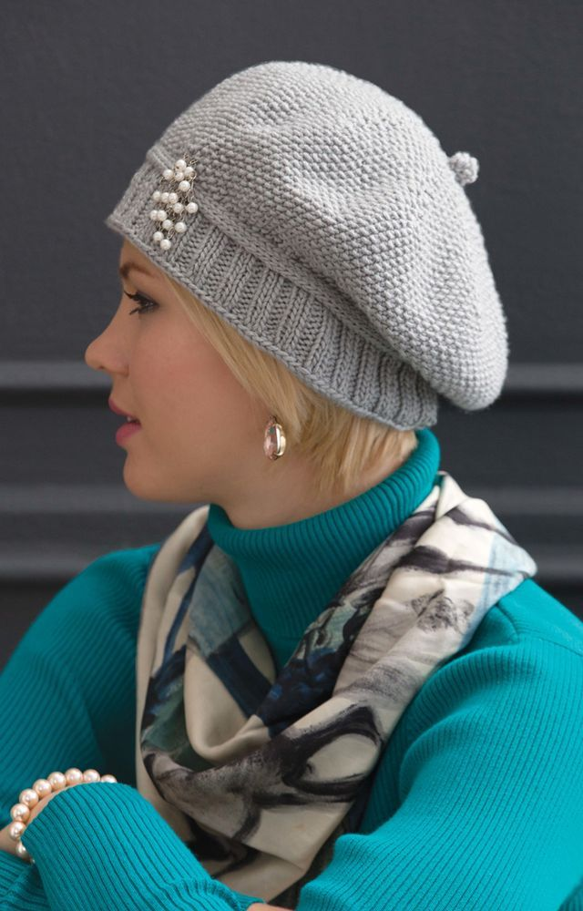 Free Pattern For Stylish Knitted Cap Knitting Pinterest Free
