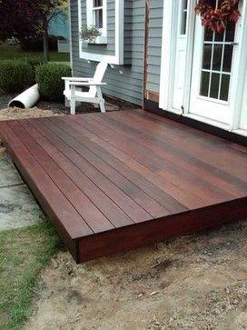 Ipe Deck On Portico Traditional New York Decks Backyard Patio Deck Designs Building A Floating Deck