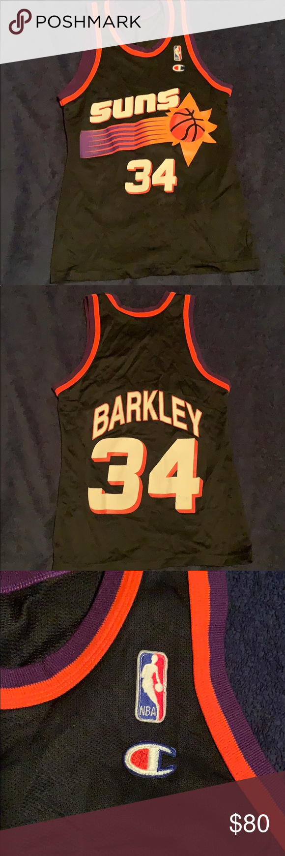 separation shoes 668a6 2634a Throwback Suns Charles Barkley 34 jersey Rare. Used. Great ...