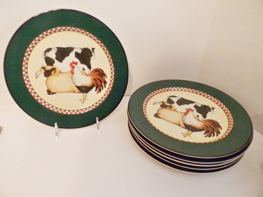 International Tableworks 18 Henry u0026 Co Six Dinner Plates Cow Sheep Rooster #INTERNATIONALTABLEWORKS & International Tableworks 18 Henry u0026 Co Six Dinner Plates Cow Sheep ...