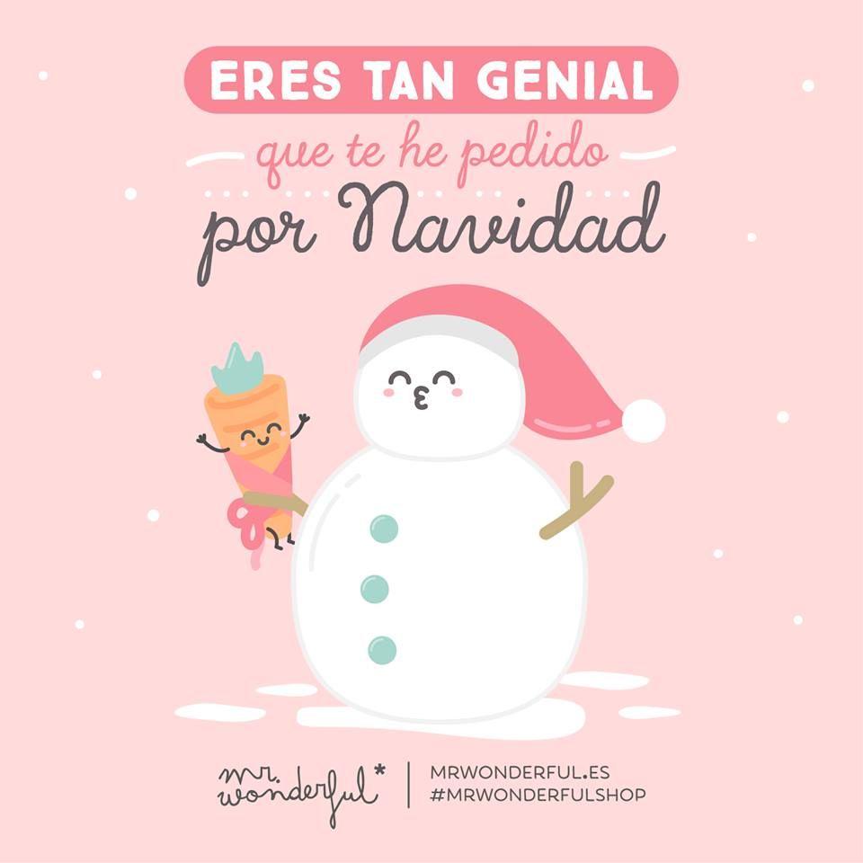 Eres tan genial que te he pedido por navidad mr wonderful - Frases de navidad graciosas ...