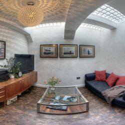 amazing flat in Crystal Palace, London. Built underground from what once upon a time were public toilets.