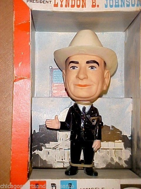 SOLD - case 954/ Mall3 - 1964 LYNDON B. JOHNSON Remco figure, still in box - AS IS