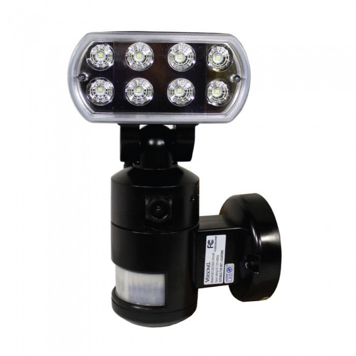 Nighcher Led Security Motion Recording Light W Wifi Black