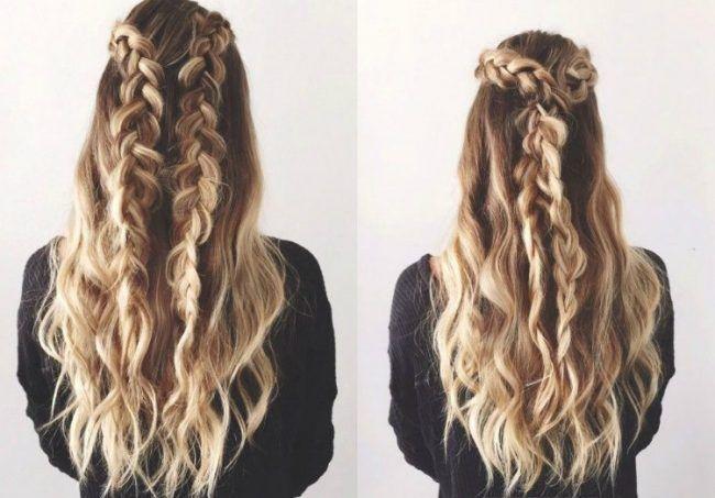 Frisur lange haare naturwelle