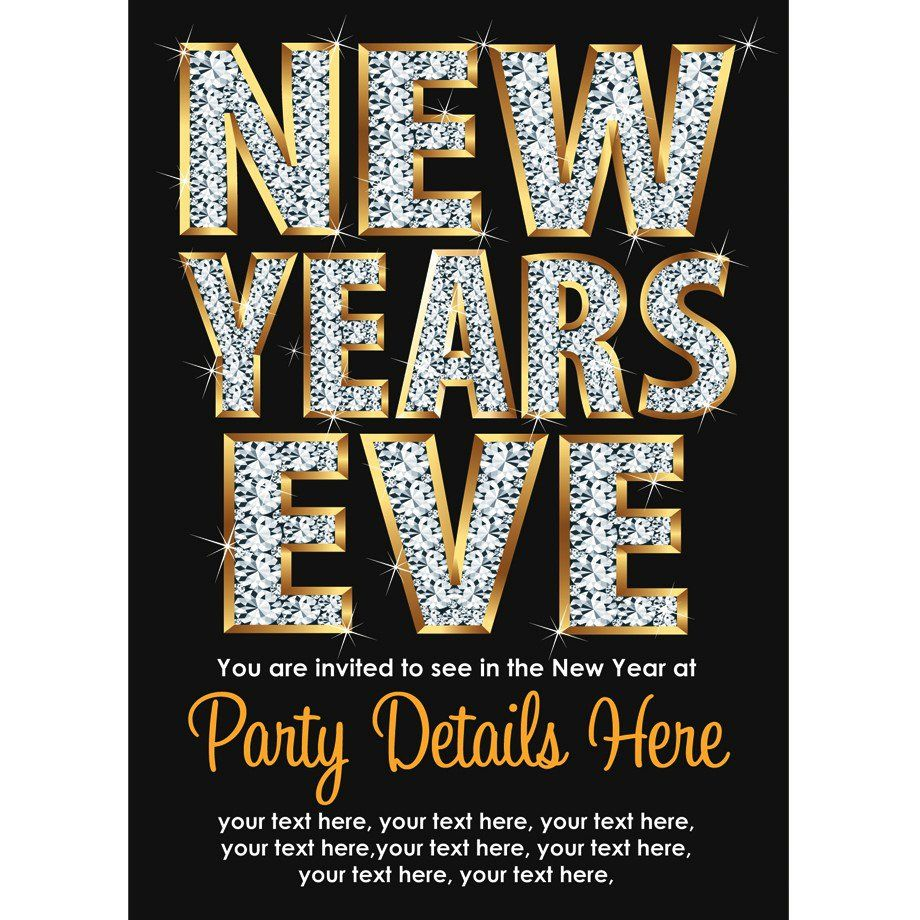 New Year's Eve Party Invitation Wording New years eve