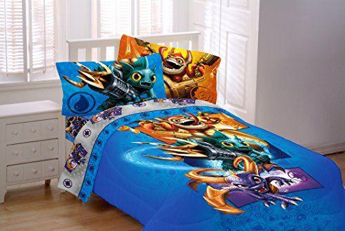 Cool 7 Piece Skylanders Twin Bedding Set Includes Twin Sheet Set