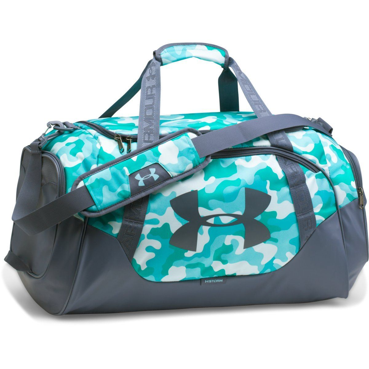 c08ebd72aa78 Under Armour Blue Infinity Apollo Grey Undeniable 3.0 Medium Duffle ...