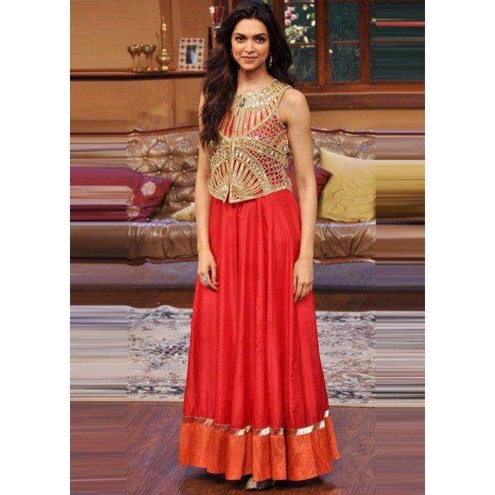 Deepika Padukone Floor Length Anarkali At Comedy Nights ...