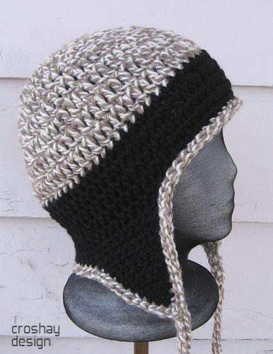 Crocheted Earflap Cap Crochet Hats Crochet Hat Pattern Crochet