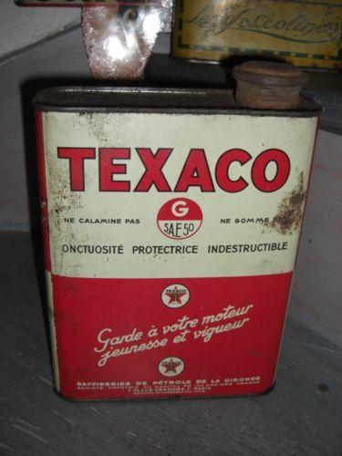 ancien bidon d 039 huile texaco s a e 50 en tole dans son jus bidons d 39 huile vintage. Black Bedroom Furniture Sets. Home Design Ideas
