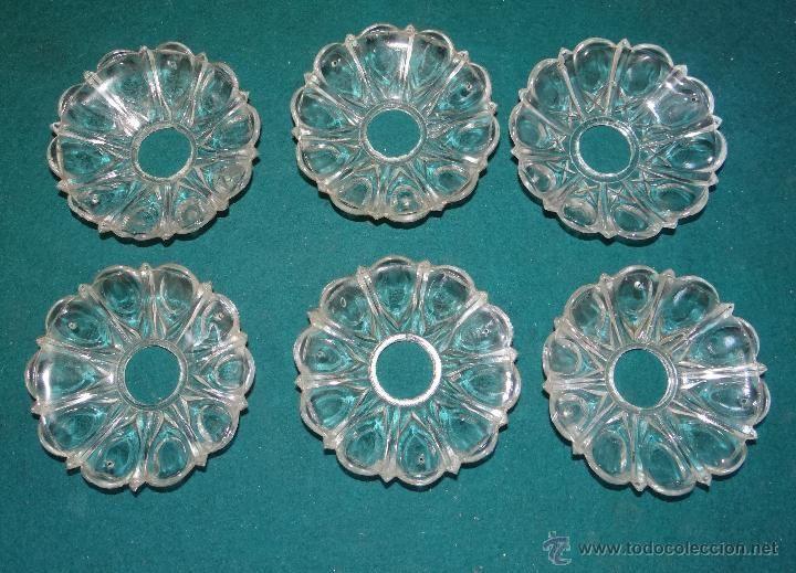 Seis Platillos De Lampara De Cristal Para Repuestos Y Restauraciones Cristales Lámpara De Cristal Lámparas De Cristal