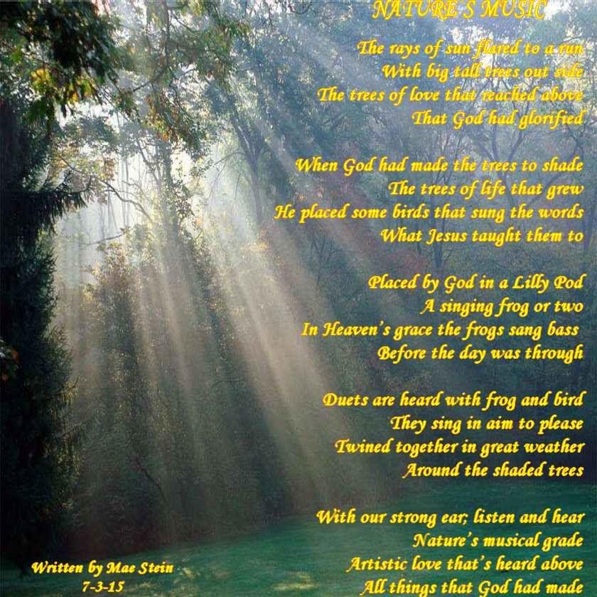 Natures Music Nature Poems Nature Poem Nature Music Poems