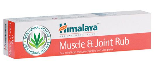 Himalaya's Muscle and Joint Rub is highly effective for backaches, muscular sprains and joint pain. Enriched with Sweet Flag, Castor Oil, Red Pepper and Spearmint, it alleviates swelling, sprains and muscle and joint inflammation.