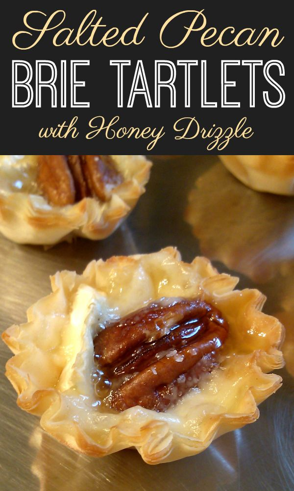 Photo of Salted Pecan Brie Tartlets with Honey Drizzle
