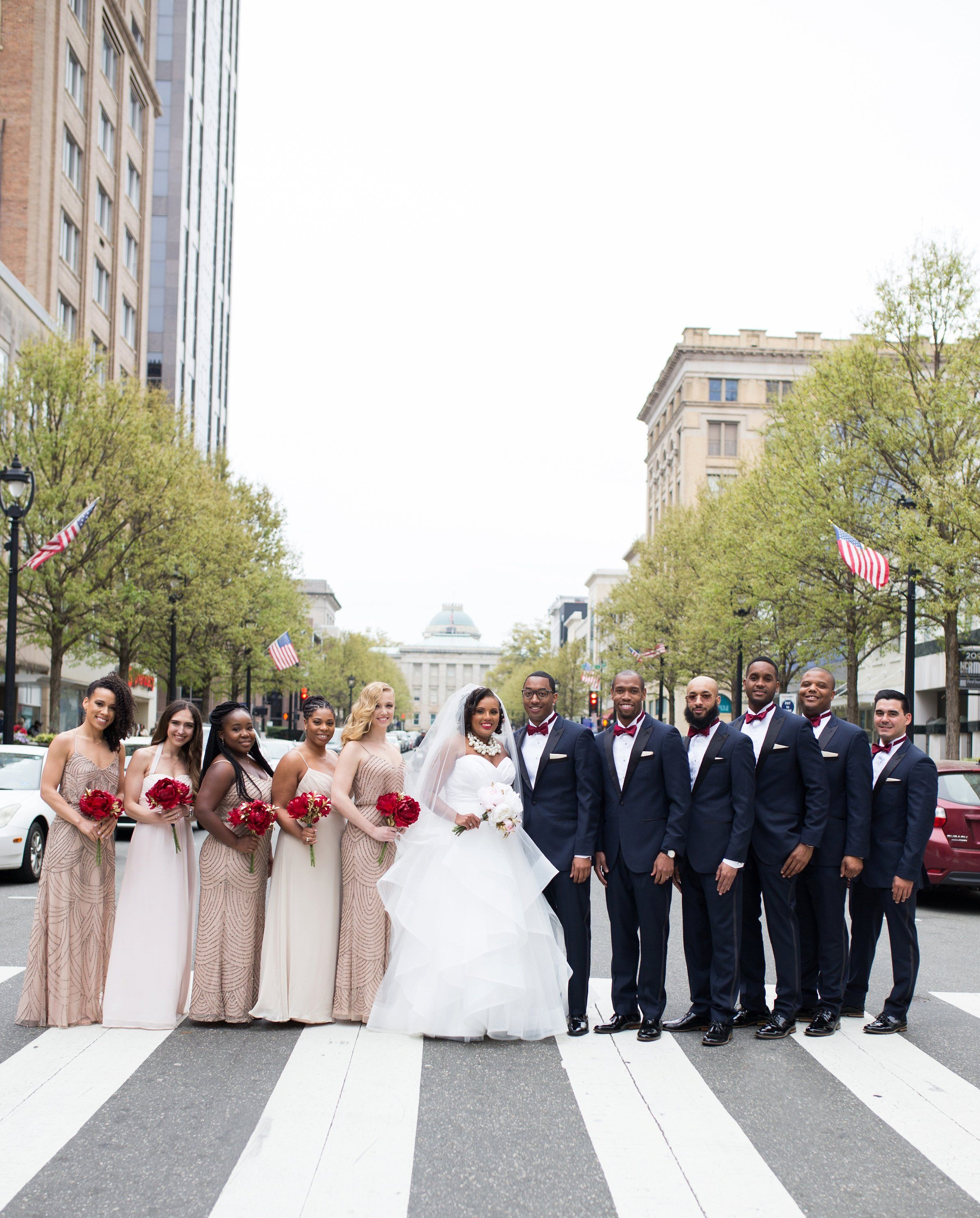 Wedding dresses downtown la  Stunning wedding party We love our downtown Raleigh couples