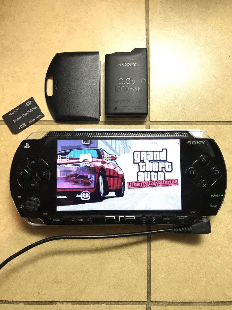 Sony Playstation Psp 1k Black 1000 Psp 1001 Wifi China Umd Tested Works Rare 1 K Hola