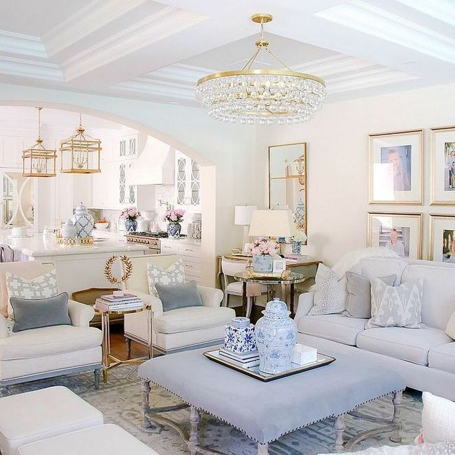 Light living room with neutral colours, soft layers, pops ...