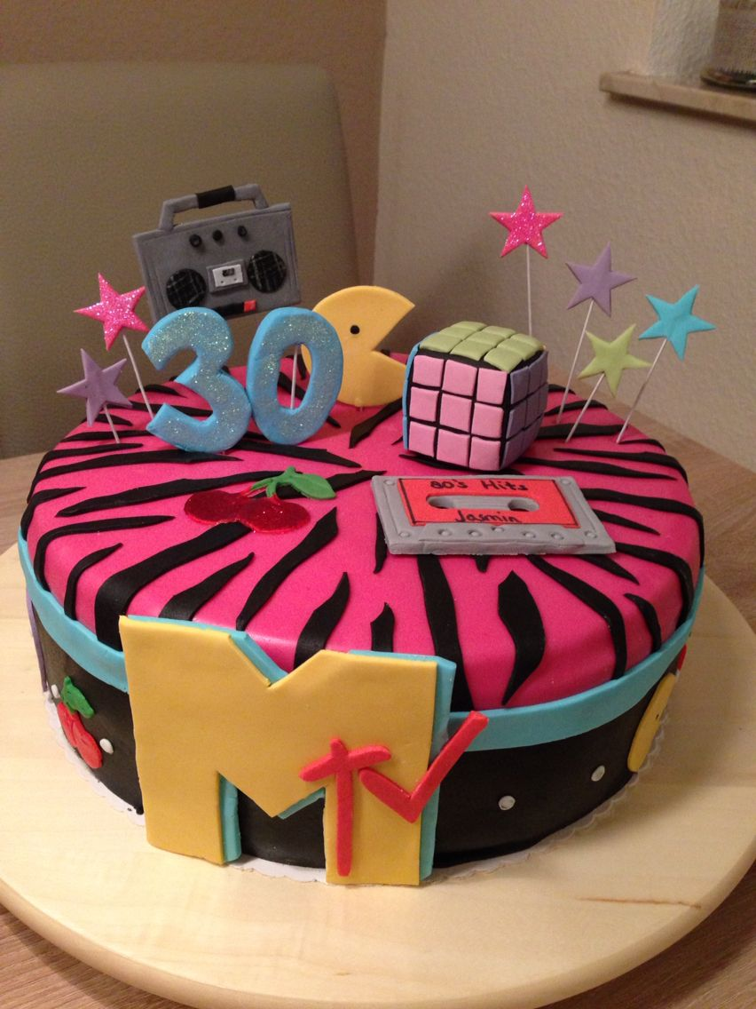 MTV 30th Birthday Cake Themes 30 90s Theme Mtv
