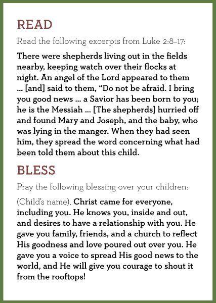 Christmas eve dinner prayer