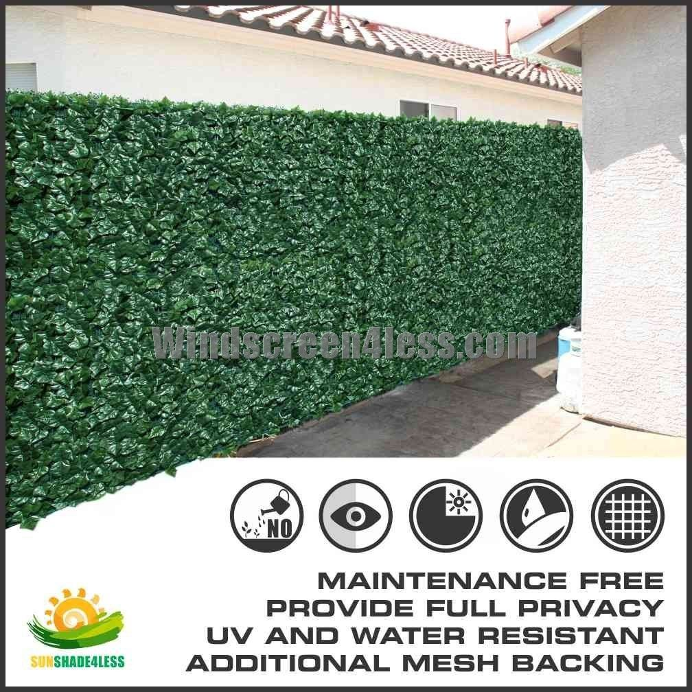 6 39 tall artificial faux ivy leaf privacy fence screen for Tall outdoor privacy screen panels