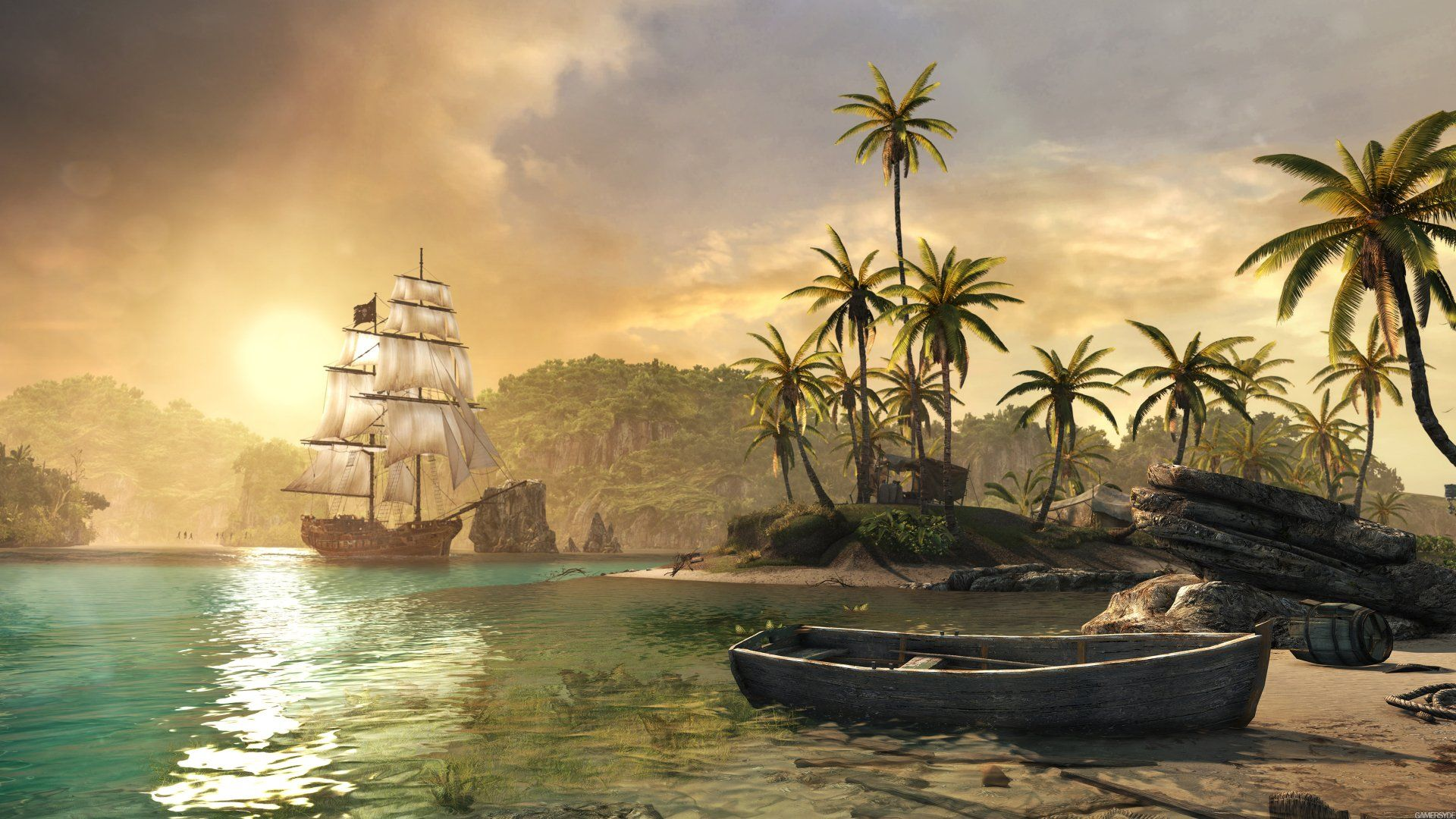 Video Game Assassin S Creed Iv Black Flag Wallpaper Assassins Creed 4 Assassins Creed Black Flag Background Images