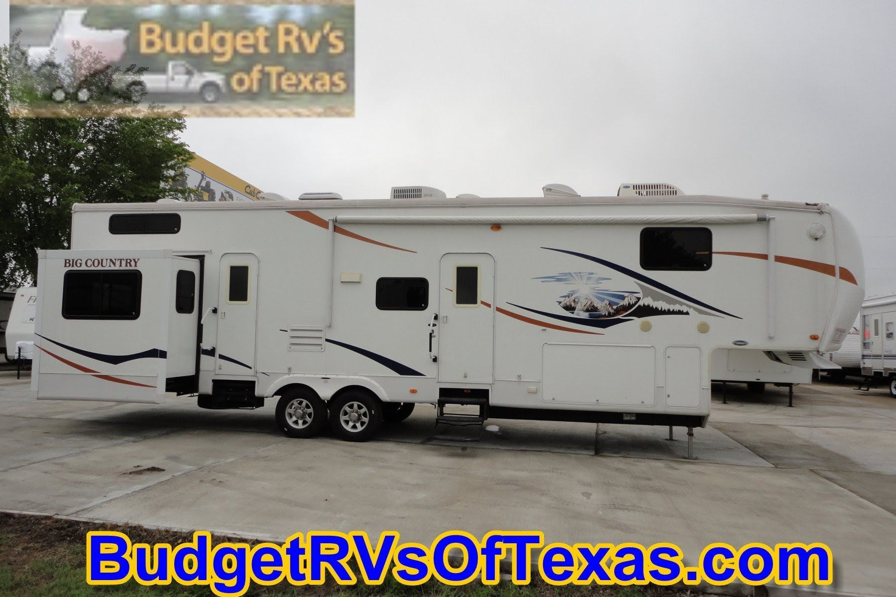 Mind Blowing 2 Bedroom 5th Wheel Bunk House 2009 Big Country 3550 Tsl Fifth Wheels For Sale Trailers For Sale Big Country