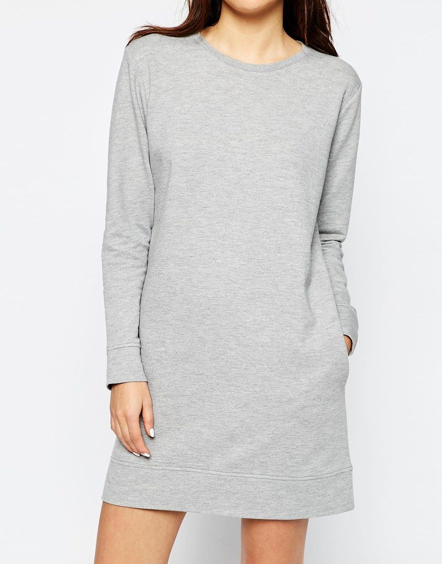 ab7a56bb4004 Image 3 of ASOS Sweat Dress With Pockets