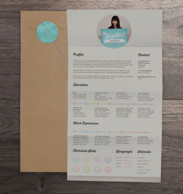 Cool Resume Designs 20 Cool Resume & Cv Designs  Resume Cv Graphic Design Resume And