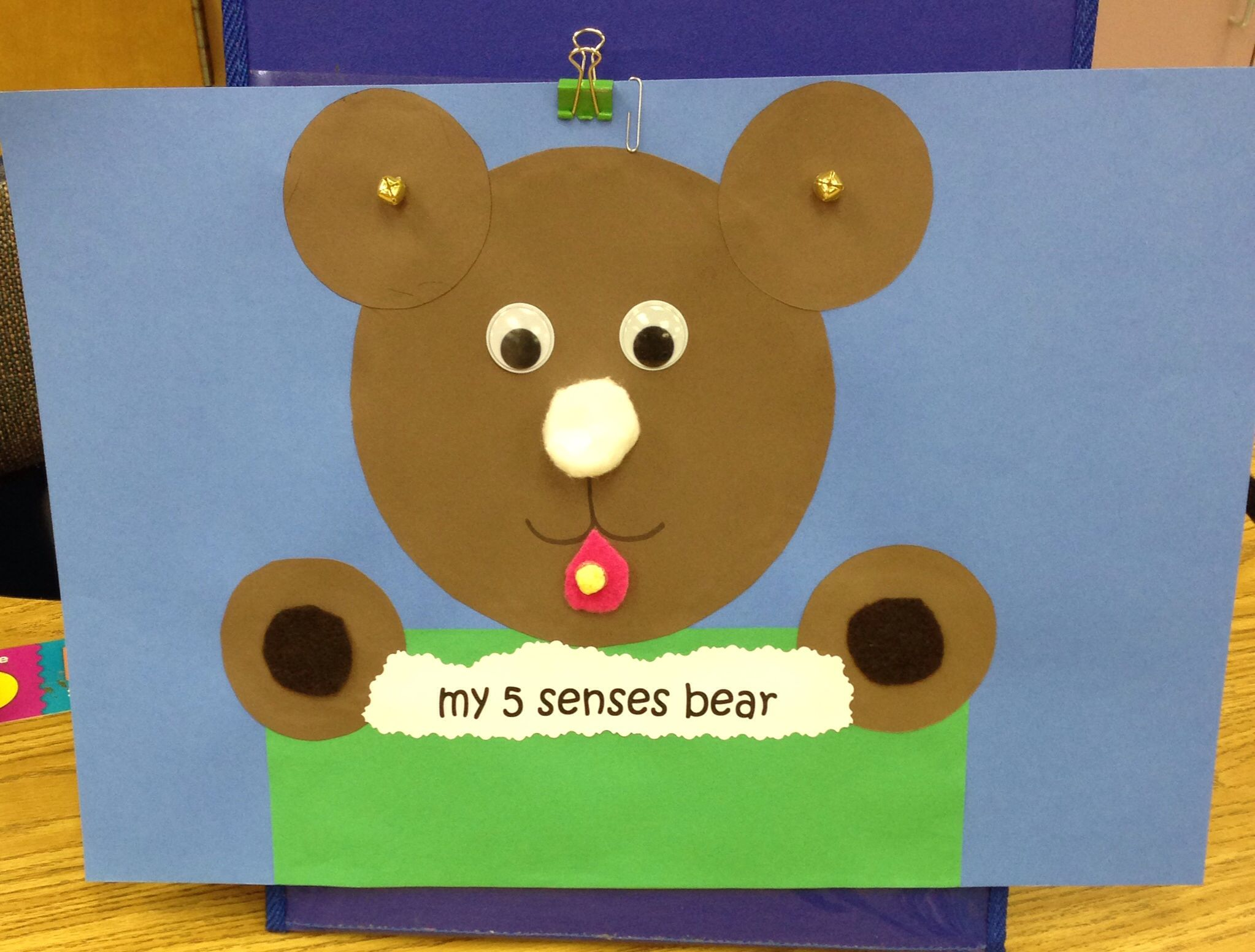 My 5 Senses Bear With Images