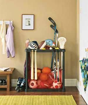 Lovely Sports Equipment Storage for Garage