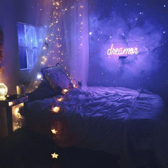 Aesthetic Fairy Lights Bedroom Inspiration Cozydecorshop Com Dream Rooms Galaxy Bedroom Aesthetic Bedroom