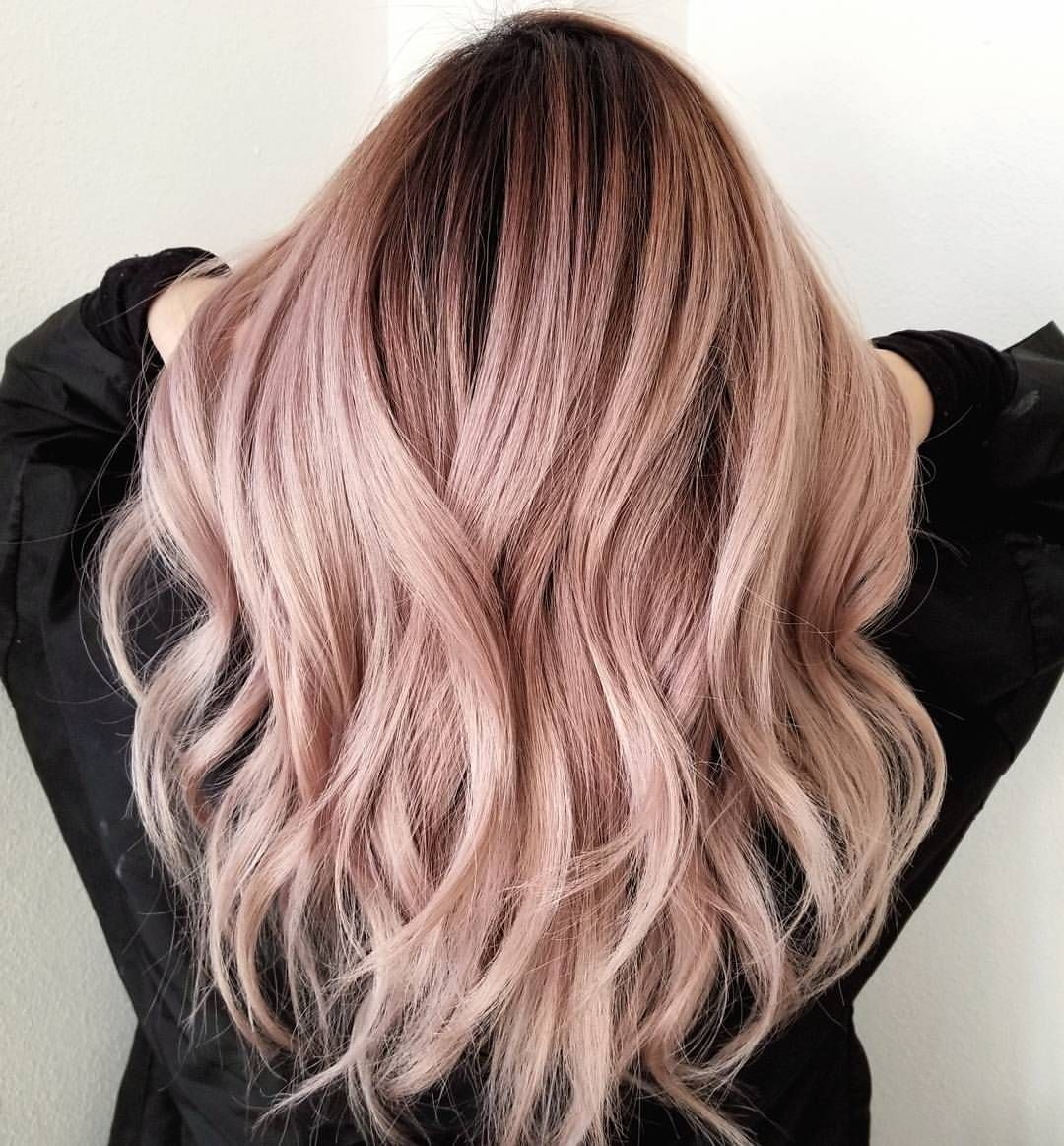 2 454 Likes 40 Comments Sammi Wang Sammiiwang On Instagram Client Has A 4 Inches Grown Out Rooty Ombr Ombre Hair Blonde Light Pink Hair Hair Color Pink