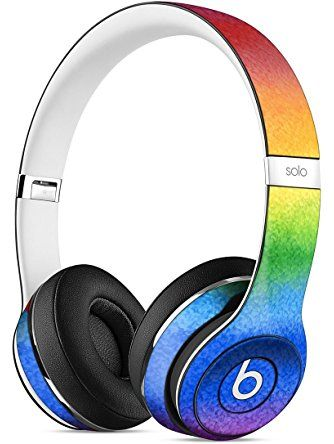 Rainbow Water Colored Paper Skin For Apple Beats By Dre Solo 2 Wireless Headphones Sticker Stickntoit Headphones Wireless Headphones Beats Headphones