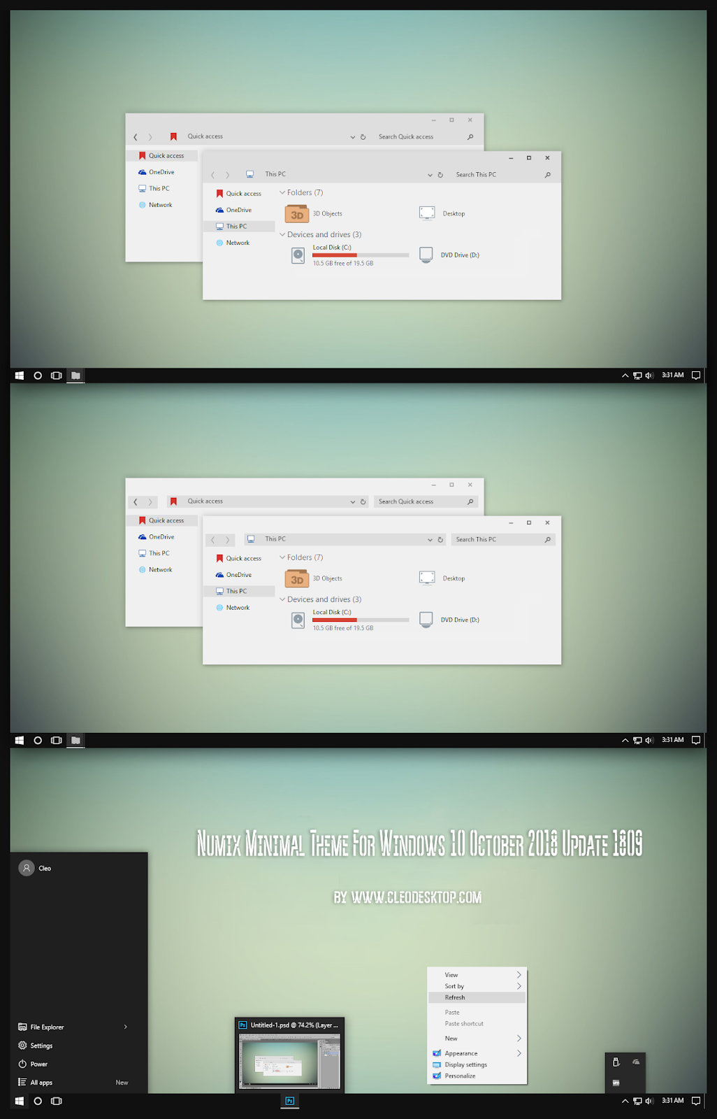windows10 themes i cleodesktop numix minimal theme windows10