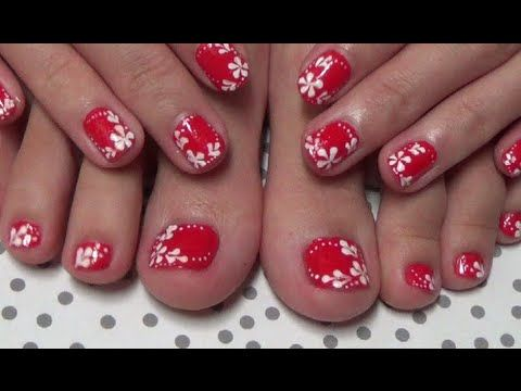 Easy nail art for beginners simple cute flower nail art using easy nail art for beginners simple cute flower nail art using a toothpick prinsesfo Gallery